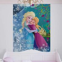 Large Mural Wallpaper Children's Room Disney Frozen Elsa & Anna 184x254cm Blue