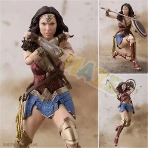 Anime-DC-Cartoon-Justice-League-Wonder-Woman-15cm-PVC-Figure-Statue-Model-Toy