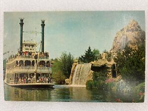 Vintage Walt Disney Disneyland Frontierland Postcard Mark Twain Steamboat B34