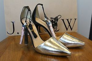 d30e1aecfe9 NEW J Crew Roxie Crackled Leather Ankle Tie Pumps  285 Sz 7 Sold Out ...