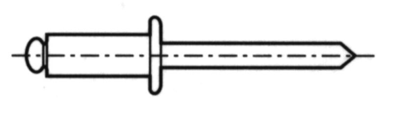 LOT DE 50 RIVETS BLIND STAINLESS STEEL A2 Ø 5 X 20 MM