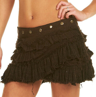 ladies summer fae skirt ELF LEAF SKIRT doof wear woodland faery clothing pixie festival leaf hem mini skirt psy trance pixie skirt