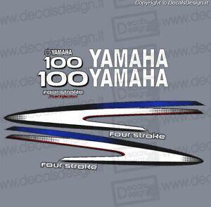 Adesivi calandra motore marino fuoribordo Yamaha 90 cv autolube gommone barca