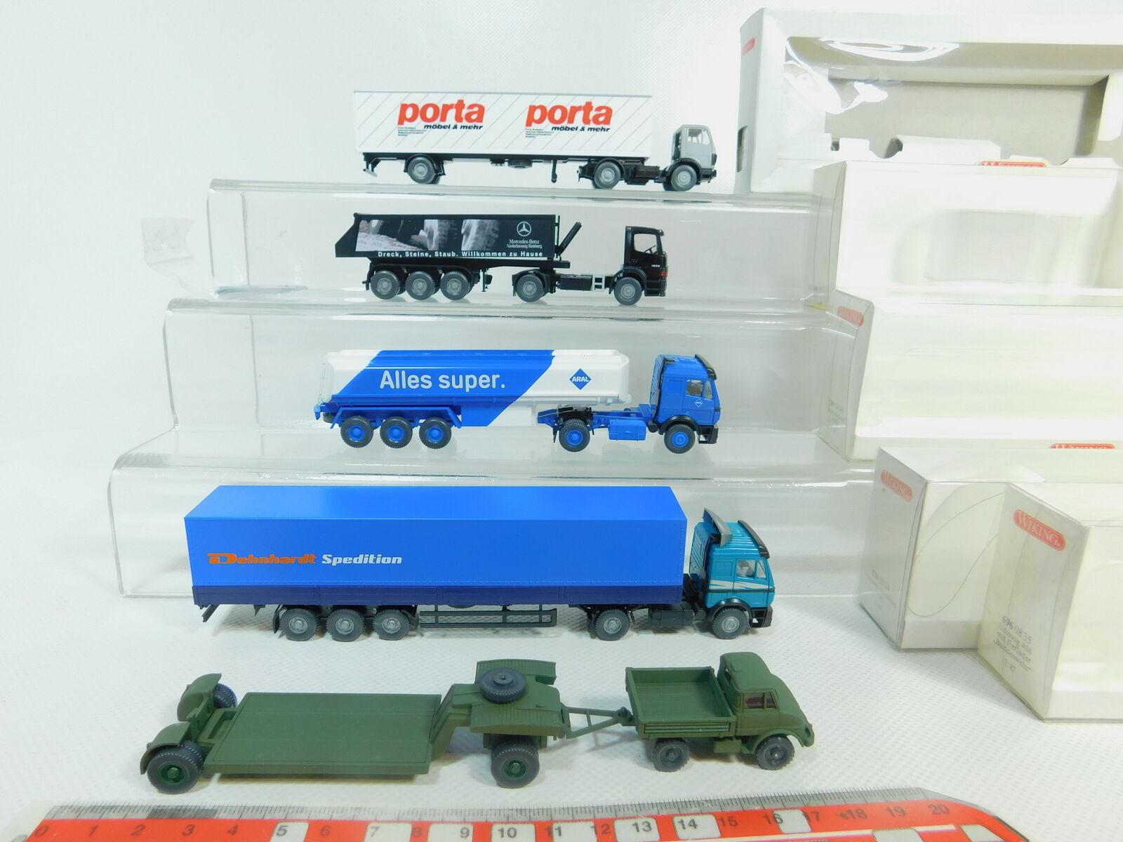 BO630-1x Wiking H0 1 1 1 87 Mb-Camion  780 Aral + 510+696 Bw +544 +600,Molto Buono 33357d