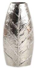 Nickel Plated Metal Leaf Design Flower Vase 40Cm