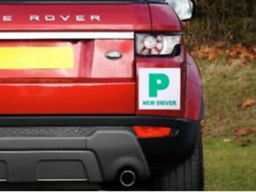 2 x Fully Extra Strong Magnetic Car P Plates Learner Driver Just Passed