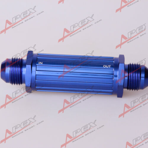 AN-6 AN6 6AN Blue Anodised Billet Magnetic Fuel Filter 150 Micron