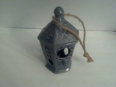 Ceramic Blue Bird House