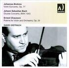 Brahms: Violin Concerto; J.S. Bach: Double Concerto; Chausson: PoŠme (CD, Nov-2011, Archipel)
