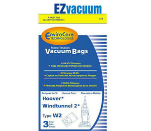 Image Is Loading Hoover Windtunnel 2 W2 Vacuum Bags 401010w2
