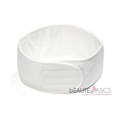 Luxury Microfiber Spa Headband Facial Salon Terry, White - #AH6001Wx1