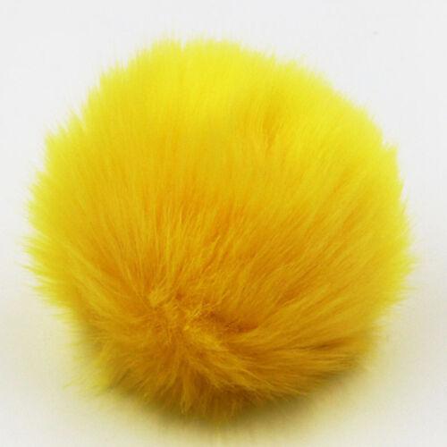 Hágalo usted mismo 9CM imitación piel de conejo pompón Bola Para Sombrero//Bolso De Mano//Accesorios Coche//Llavero