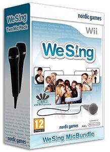 Nintendo-Karaoke-Wii-Game-We-Sing-vol-1-2-Micros-Microphones-NEW