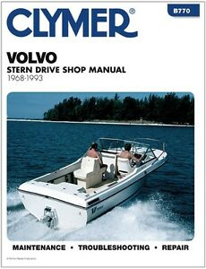 Clymer volvo ohc aq171c inboard outboard engine service for Boat motor repair shops