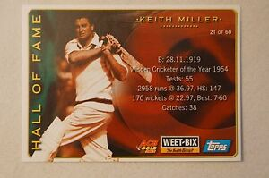 Cricket-Collectable-Weetbix-Hall-of-Fame-Series-Shane-Lee-Keith-Miller