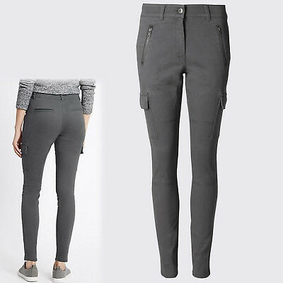 ex M/&S Womens Cotton Chinos Summer Trousers Pants Work Casual Sizes 6-22