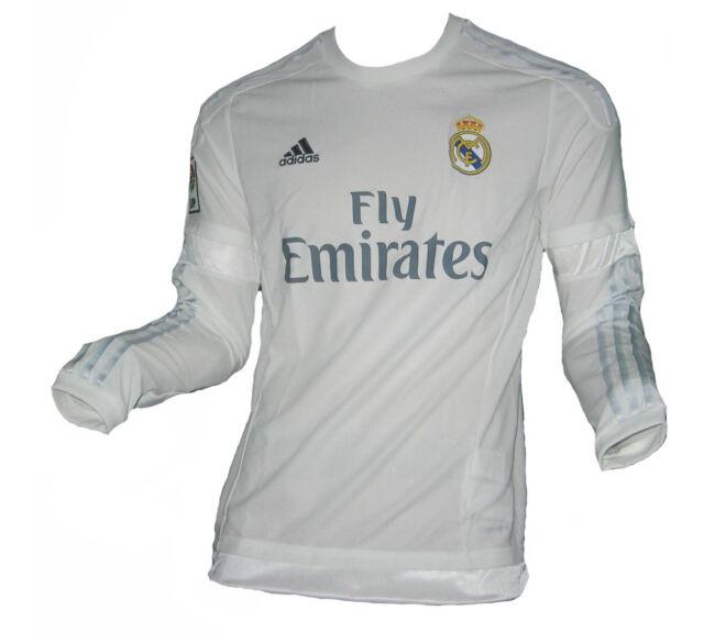 Real Madrid Adidas Home Jersey de manga larga de los hombres s12653 futbol