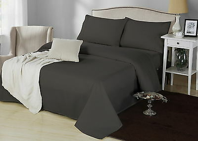 1000TC CVC Cotton Sheet Set Queen King Double KS Single 5 Colours Easy Care