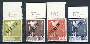Berlin-MiNr-16-20-postfrisch-MNH-Oberrand-gefaltet-R439