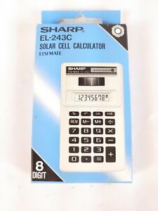 Sharp Elsimate Solar Cell Calculator EL-243C Made In Thailand 8 Digit