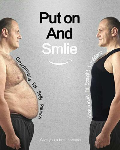 Gynecomastia Compression Shirt Slimming Body Shaper Men Undershirt Shapewear HOT