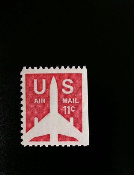 1971 11c Jet Airliner Silhouette, Booklet Single Scott