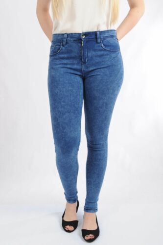 Brand New Ladies Mid Waist Skinny stretchy Jeans Jeggings Pants