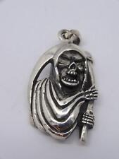 Sterling Silver Grim Reaper Pendant 8.5 grams-New