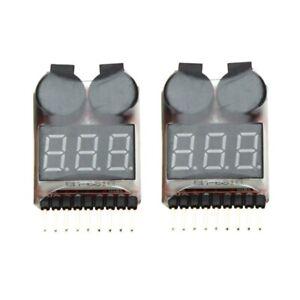 2-Stueck-1-8S-Indikator-RC-Li-Ionen-Lipo-Batterie-Tester-Niederspannung-Summe-z6
