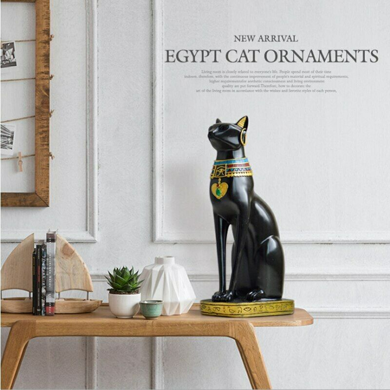 ERMAKOVA résine Bastet Chat over Égyptien Chat Estatuilla Escultura Animal