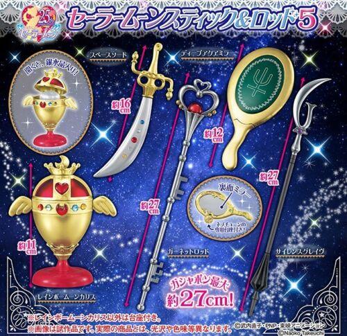 Sailor Moon 25th Henshin Wand Charm Stick /& Rod Part5 Completed Set 5pcs