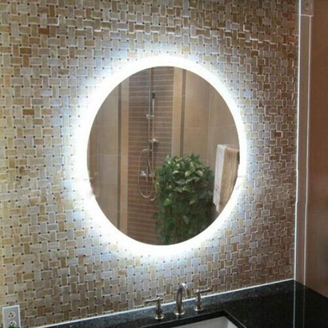 Modern Round 50 70cm Led Anti Fog Bathroom Wall Vanity Cool White Mirror Light For Sale Online