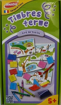 Joustra ® 1741493 Farbkoffer Malset Bastelset Kinder Malen Zeichnen Kreativset