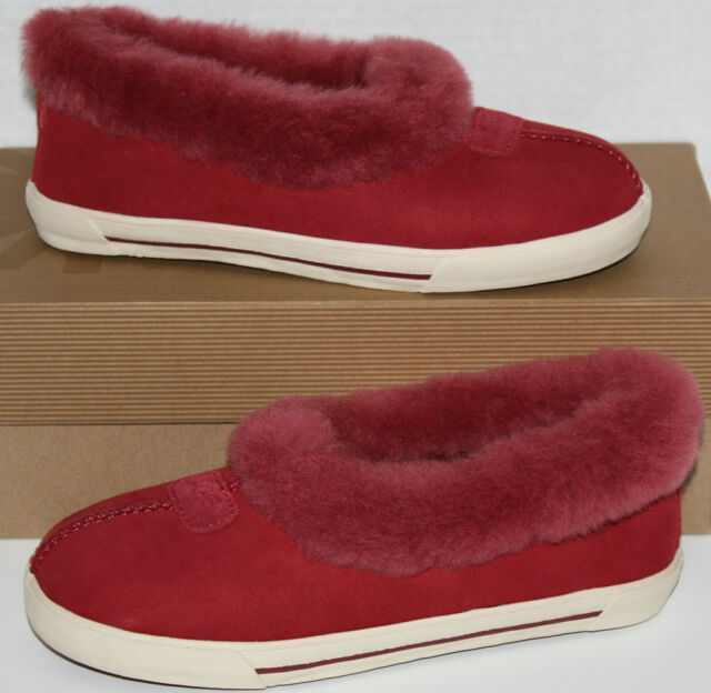539be220e7d Girl's UGG Australia Rylan Jester Red Slippers Shoes Size 1
