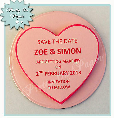 Love Heart Save the Date Fridge Magnet