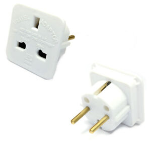10 X 3 Pin Uk To 2 Pin Eu Europe Holiday Travel Adapters
