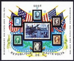History USA Flags 200 Year Celebration Burkina Faso Block 31, Gest