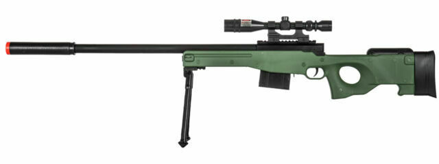300 Fps Uk Arms Airsoft Sniper Gun Tactical Bolt Action L96a1 Green Spring Rifle For Sale Online Ebay