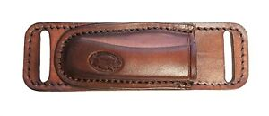 Horizontal Leather Knife Sheath for CROSS DRAW carry fits Buck® 110 knife ONLY