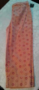 NEW Relativity Orange Pleated Cuffed Capri Stretch Cotton Womens 10 NWT $36