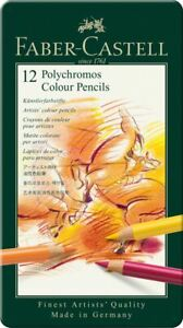 Faber-Castell-Polychromos-Artists-039-Colour-Pencil-12-Tin-Set