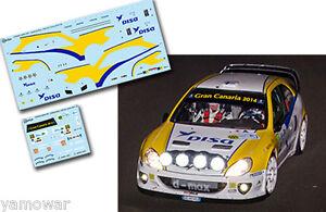 Decal-1-43-Juha-Kankkunen-CITROEN-XSARA-WRC-Rally-Islas-Canarias-2014