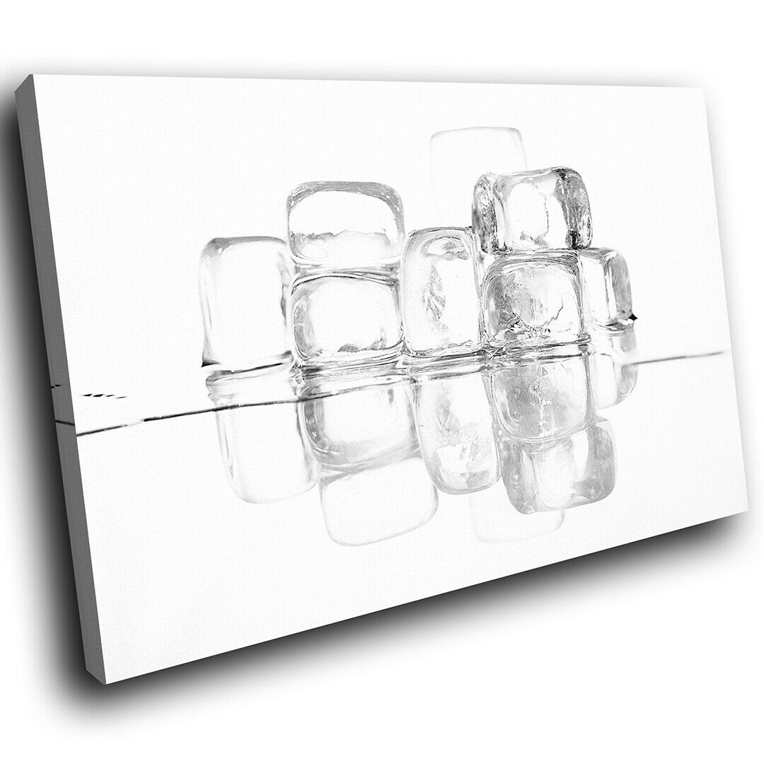 Abstract Cool Weiss Cube Ice Canvas Wall Prints Picture Large