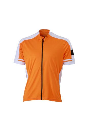 JN454 JAMES /& NICHOLSON Herren Fahrradshirt durchgängiger Reißverschluss CoolDry