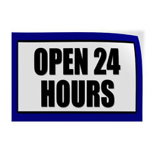 Decal Stickers Open 24 Hours Promotion Business Vinyl Store Sign Label