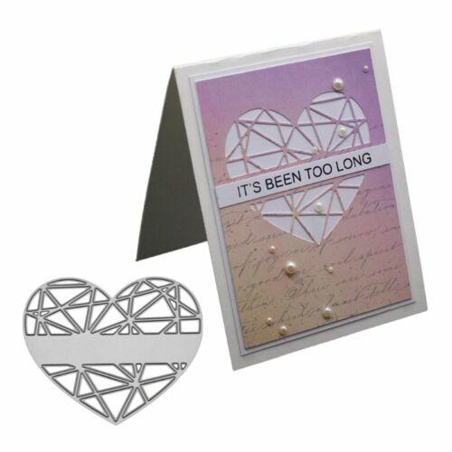 Heart Metal Cutting Dies Stencil DIY Scrapbook Album Paper Card Embossing Decor