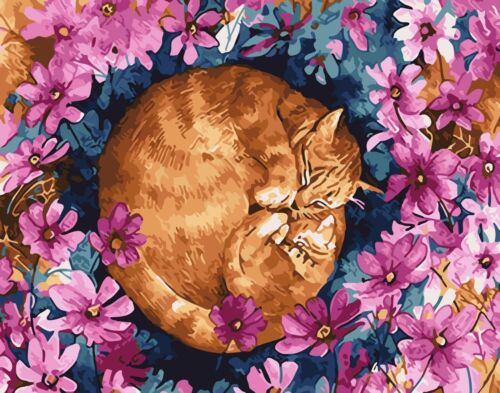 Flowers Animals People DIY Paint By Number Kit Acrylic Oil Painting Scenery