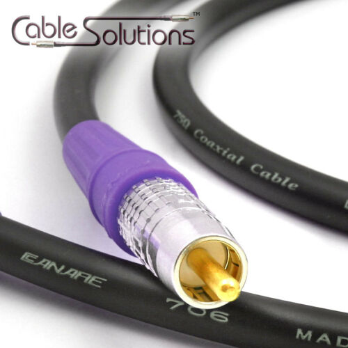Canare LV-77S Pro Coaxial Digital Audio SPDIF Interconnect Cable 0.9m RCAP003F