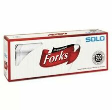 Solo Heavyweight Plastic Forks 641 White 500 Forks Scc827263