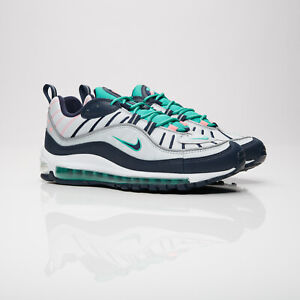 Details about New Nike Air Max 98 South Beach Pure Platinum Obsidian size 14 640744 005